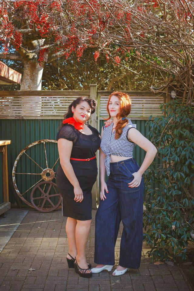 Our Issue 8 (country) fashion shoot features these two gorgeous ladies and their down home country inspired outfits. Photography by Tony McKay  Monique ( Right ) H&MUA, Styling by The Sweet Painted Lady