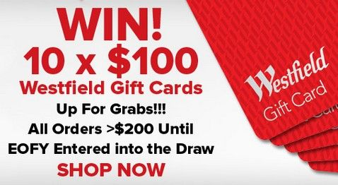 Win 10 x $100 Westfield Gift Card for 5 days only at the 4Cabling website!
