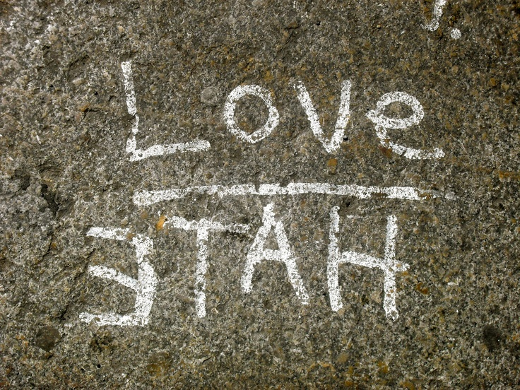 Love/Hate...Pathway in NYC. LiveLaughLove <3