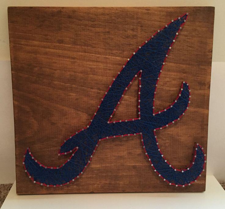 Atlanta Braves nail thread /string art  etsy MLB