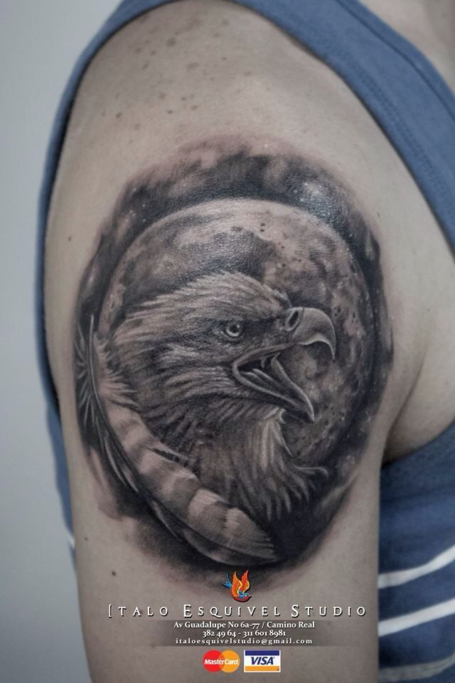 Eagle tattoo by italo esquivel