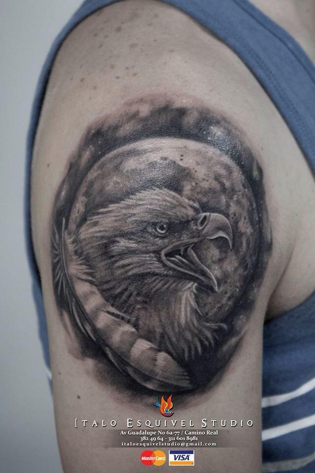 Eagle tattoo by italo esquivel