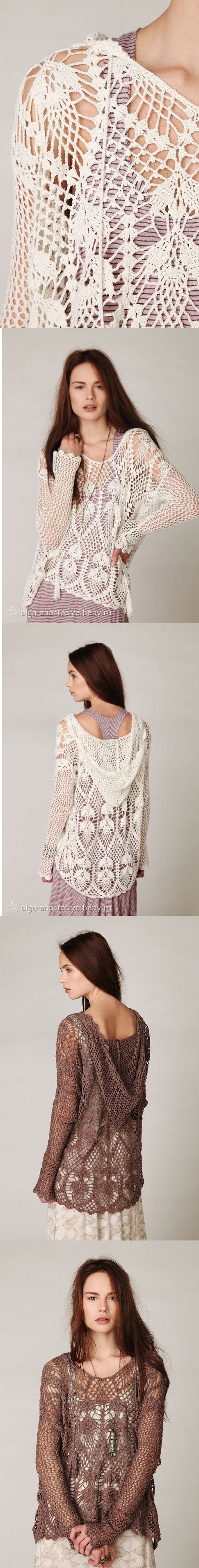 Trendy crochet tunic PATTERN, pdf TUTORIAL + detailed HQ charts, instant…