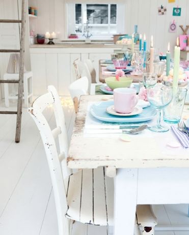 beautiful pastel table