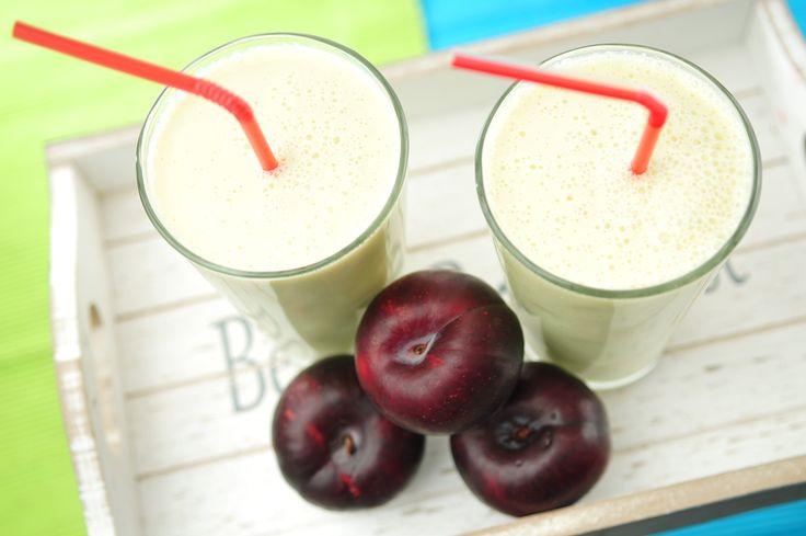 Smoothie: pruim, banaan, yoghurt