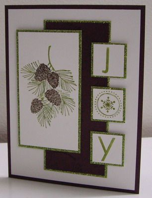 Pinecones and Branches - SC359 by Loll Thompson - Cards and Paper Crafts at Splitcoaststampers