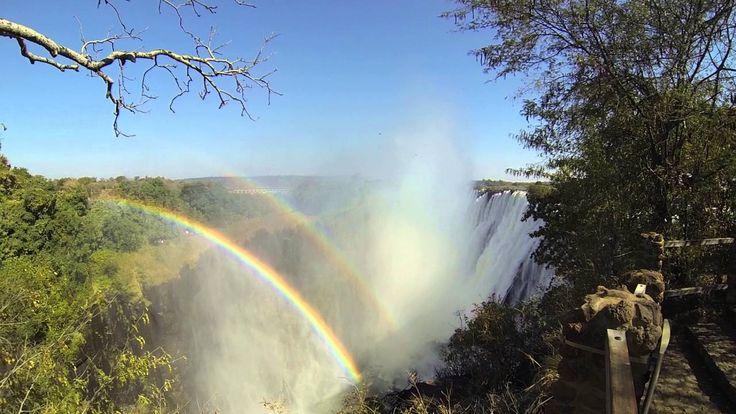 Double Rainbow at Victoria Falls