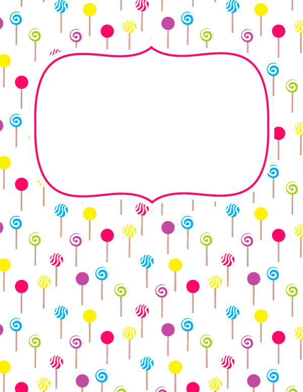 Free printable lollipop binder cover template. Download the cover in JPG or PDF format at http://bindercovers.net/download/lollipop-binder-cover/
