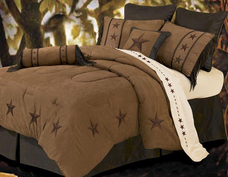 """(HXWS2018TAN-T) """"Laredo Tan"""" 5-Pc. Western Star Comforter Set Twin"""