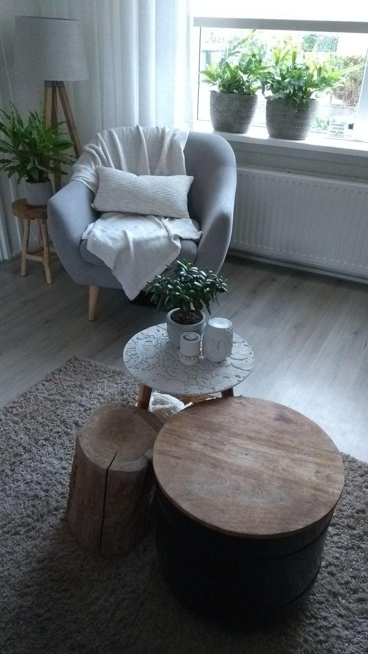 • Egedal stoel van de Jysk - 3 kleine salon tafeltjes action  • Wood - - greenhome - natural living 🍀