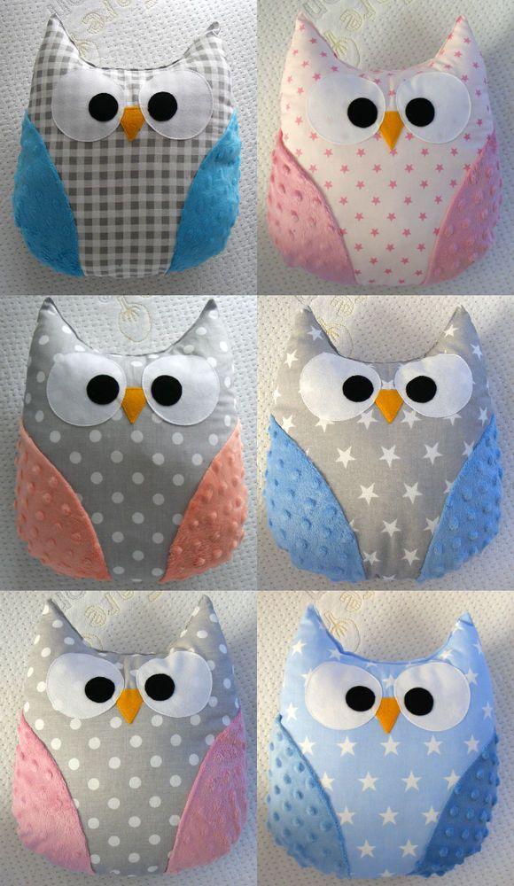 Gorgeous handmade owl pillow,baby gift,mr. owl, handmade,kids room, boy, girl | eBay