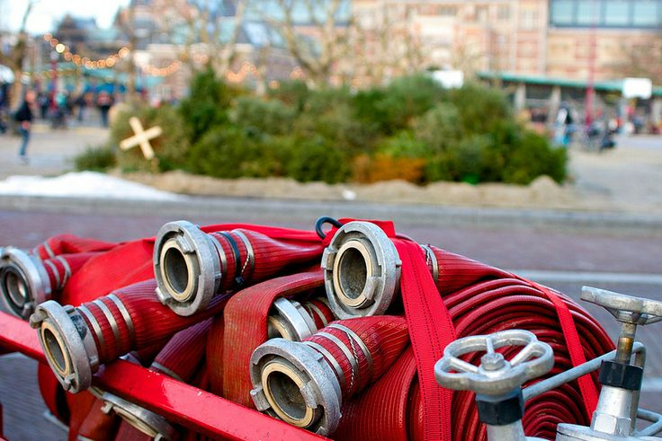 Museumplein, Amsterdam, The Netherlands, December 2013 - January 2014, Rijksmuseum fire hose