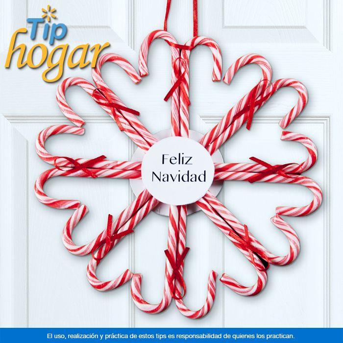 corona de dulces navideos no sabes cmo decorar la puerta de tu casa esta