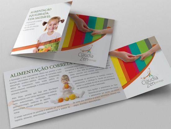Z! Studio - Portfolio - Mala Direta Cláudia Zen Nutrologia Pediátrica