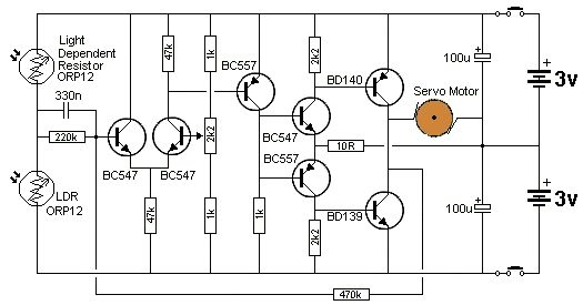 Electronica on robotic circuit diagram