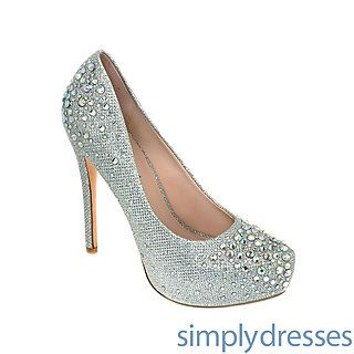Victoria Silver Closed Toe Heel at SimplyDresses.com