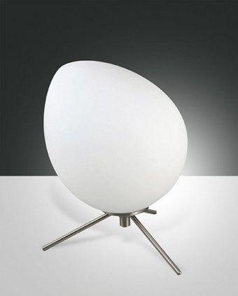 Fabas Luce Evo LED Tischleuchte nickel satiniert