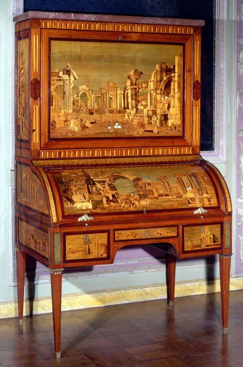 Louis XVI roll-top desk by A.L. Gilbert