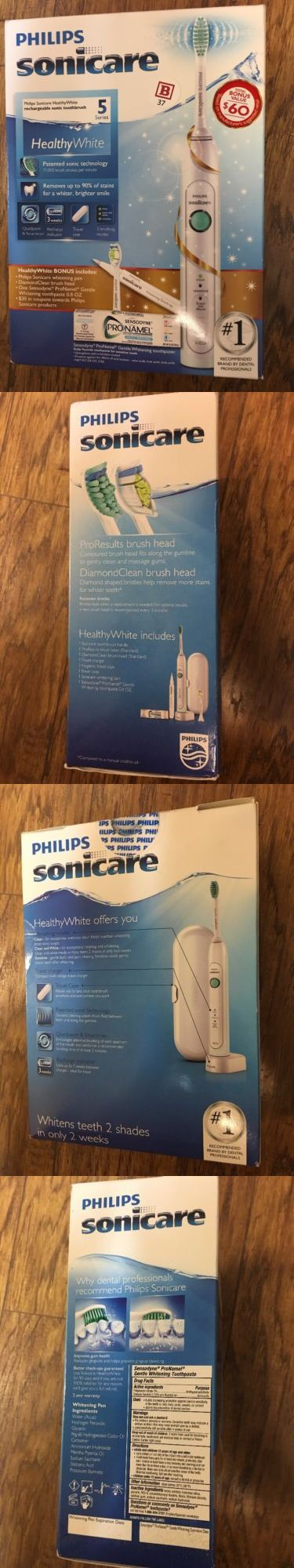 Standard Toothbrushes: Philips Sonicare Healthy White Electric Toothbrush Holiday Pack, 4 Pc -> BUY IT NOW ONLY: $119.99 on eBay!