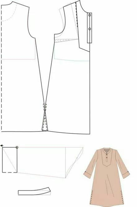 Long top tunic pattern