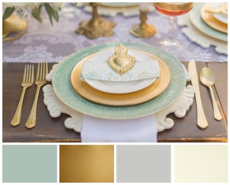 Green Wedding Colour Scheme. Chalkboard, Gold, Grey and Cream #ezeevents #wedding