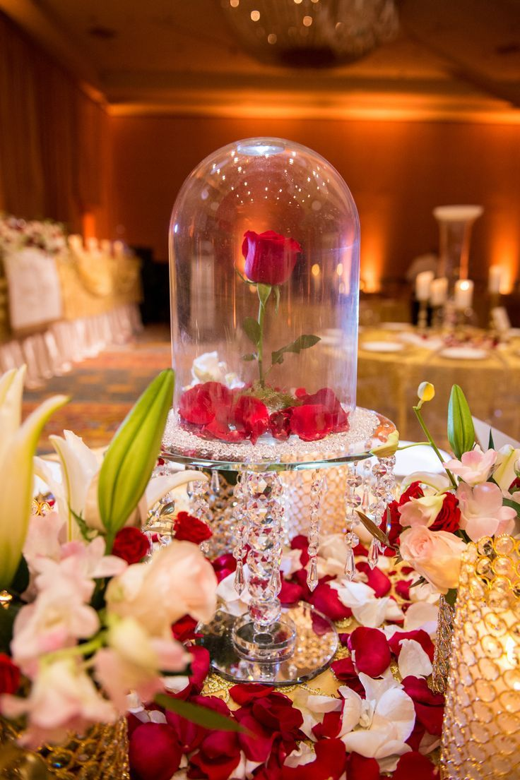8 best romantic wedding decoration images on pinterest the beast this beauty and the beast wedding at disney world had a life size lumiere perform junglespirit Choice Image