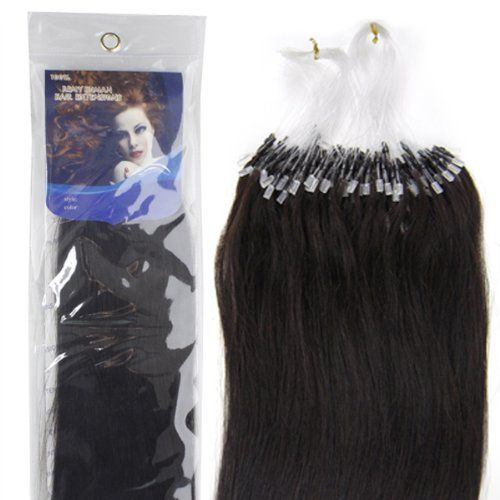 """22"""" Loop Micro Ring Beads Tipped Remy Human Hair Extensions 100s 1b for Women's Beauty Hairsalon in Fashion by lilu. $37.00. We guarantee 100% human hair AND Loops tipped ,We guarantee 100% human hair could be applied with micro rings. Can be curled, straightened, tongued & washed. Kindly Remind ,this is US registered certified Brand, we have not authorized another seller to sell it ,all items Quality Box Packaging as  pictures show .solely sold by AMERICA LADDER INTERNATIONAL CO..."""
