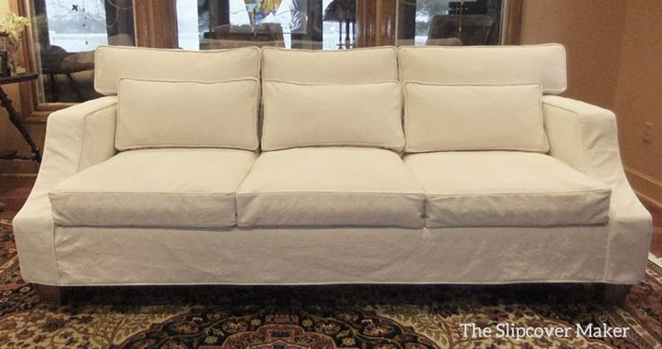 Custom Sofa Slipcover With A Relaxed Look And Tailored Fit