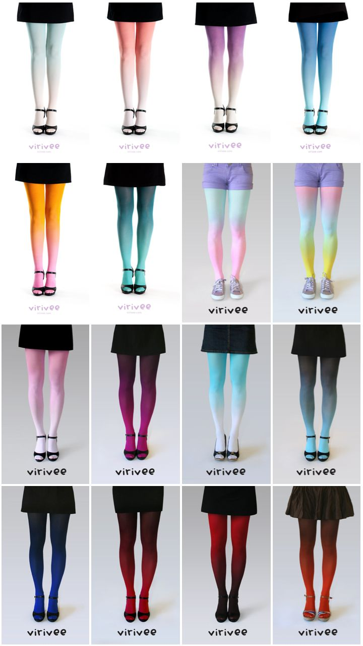Ombre tights luv these the design is amazing & they r really cute!!! <3<3<3<3<3<3<<3<3<3