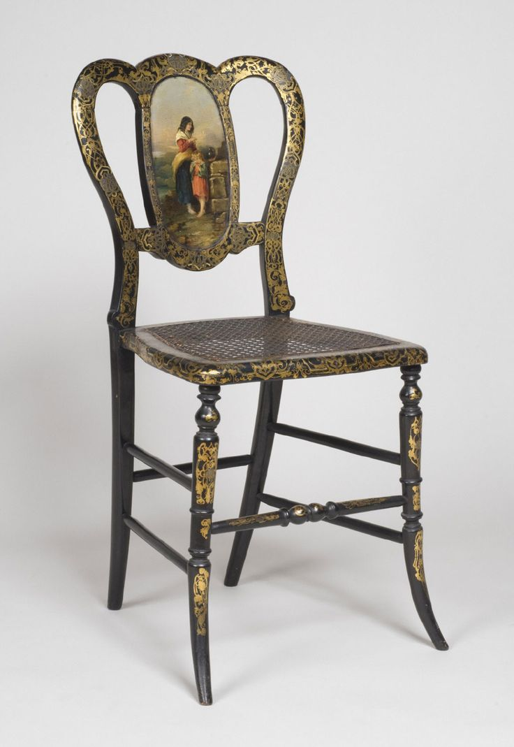 Side Chair Artist/maker unknown, English Geography: Made in England, Europe  Date: c. Medium: Beechwood with painted and gilt decoration; - 891 Best Antique Tables&chairs Images On Pinterest Chairs