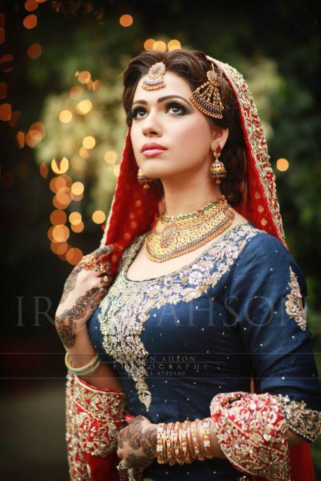 Indian Bride #MuslimWedding, #MuslimBridalDress www.PerfectMuslimWedding.com