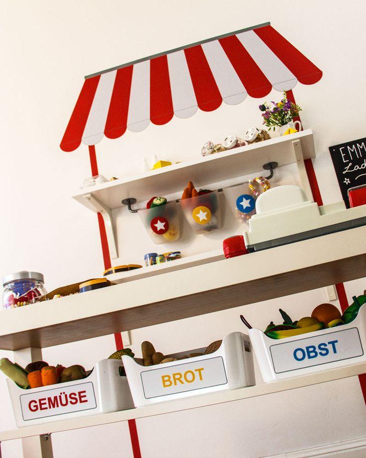 ikea kaufladen kaufmannsladen selber bauen limmaland kleben spielen leben kinder. Black Bedroom Furniture Sets. Home Design Ideas
