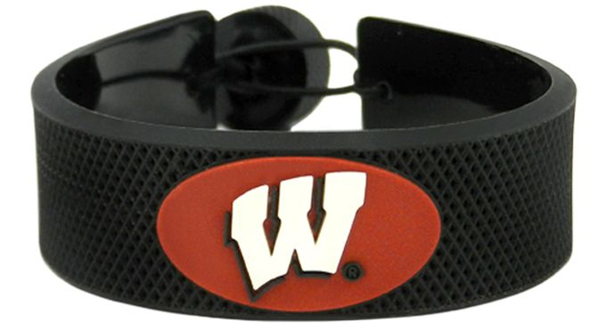 Wisconsin Badgers Classic Hockey Bracelet
