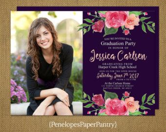 SAVE 20% ON ORDERS OF $60.00 OR MORE (excludes shipping), COUPON CODE: GRAD2017  Penelopes Paper Pantry is proud to present our collection of 2017 Custom Graduation Announcements, Open House Invitations and Going Away Party Invitations.  The invitations are $1.00 each for front side printing and $1.50 each for printing on both sides. The price includes envelopes. Customizing is FREE. Backside printing may include a continuation of the design on the front, up to four additional photos, future…