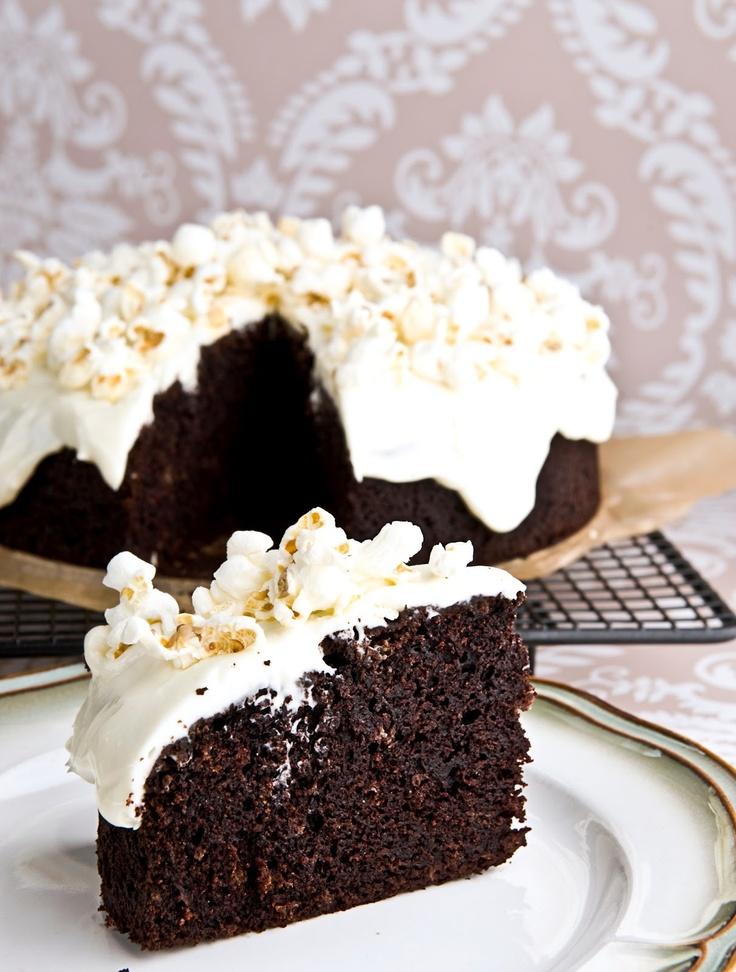 Ale Babka!!! i robi to co lubi:): Ciasto z piwem i popcornem - ciasto dla chłopa:)
