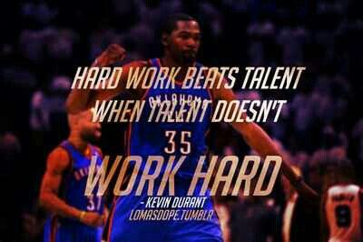 Kevin Durant Basketball Quote. A great KD quote, also in his movie, Thunderstruck.