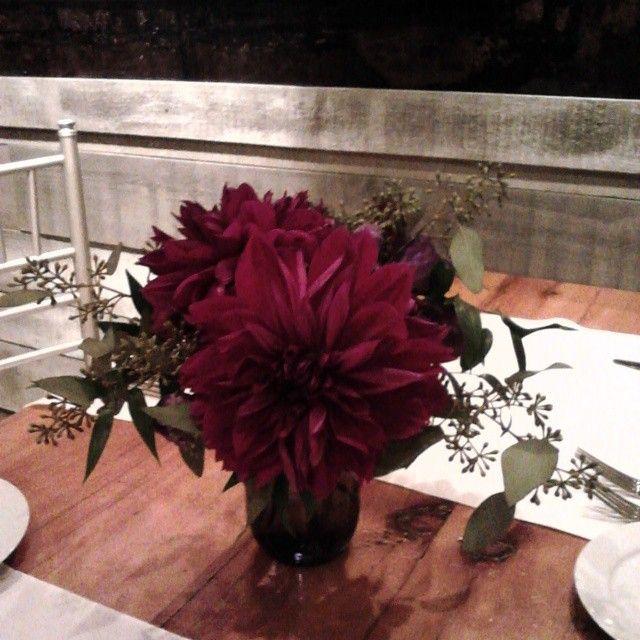 Tonight's wedding at the Boilerhouse Loft in the Distillery is looking pretty fine.
