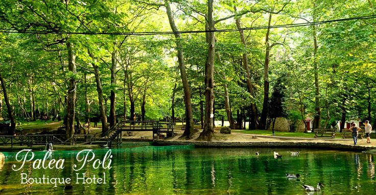 A small lake in the heart of #Naousa city , in #Greece !