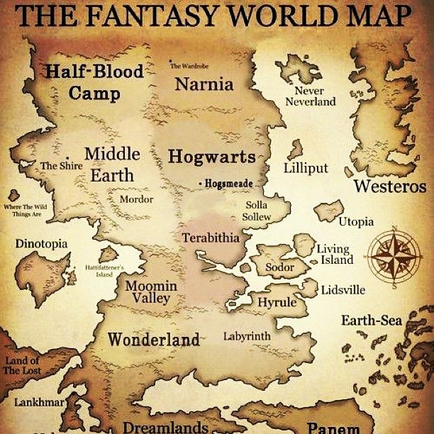 Fantasy World Map...includes all your favorite fantasy places