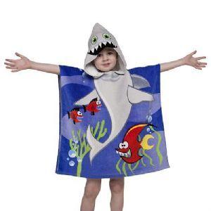 Poncho Buddy Sam Shark Hooded Towel UPF 50+