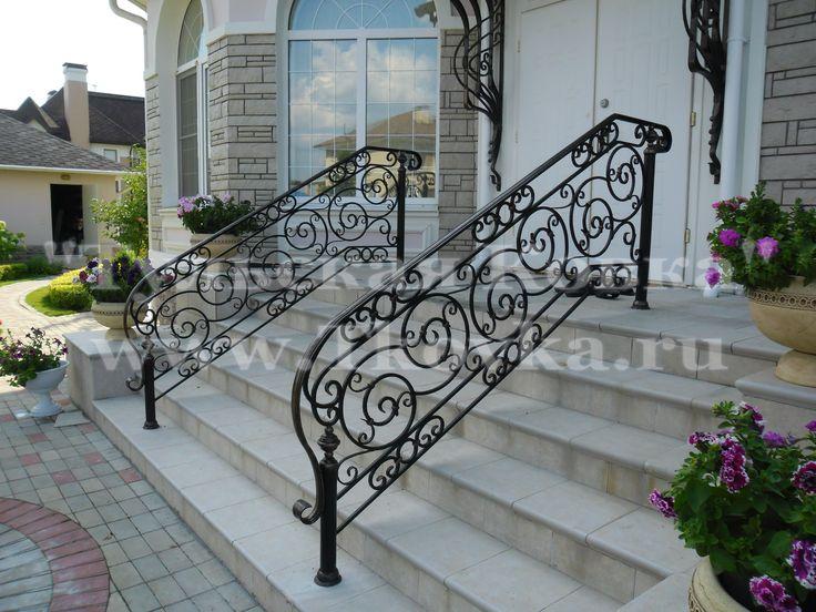 Кованые перила входной группы (Wrought iron railings input group)
