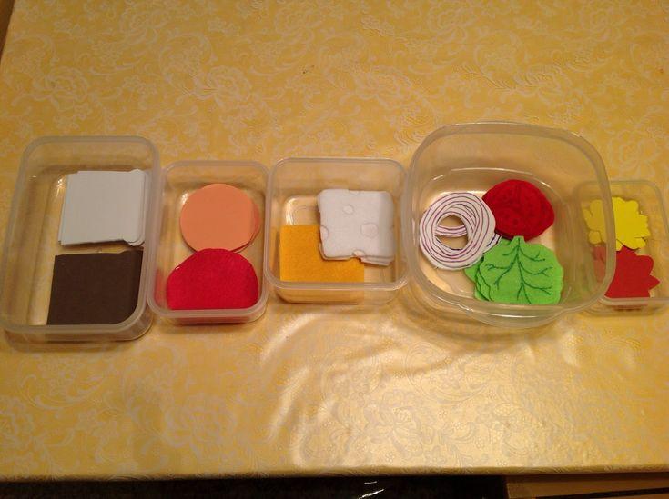 Easy DIY sandwich shop using felt and foam sheets.  preschool dramatic play. Learn Laugh Grow Child Care