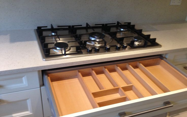 Beech cutlery insert - organisation by Newhaven Kitchens, Carlow
