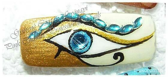 GYÖRENÉ CSERTÁN GYÖNGYI - PINK CADILLAC PROFESSIONAL NAILS KÖRÖMSZALON Egyptian Nails art