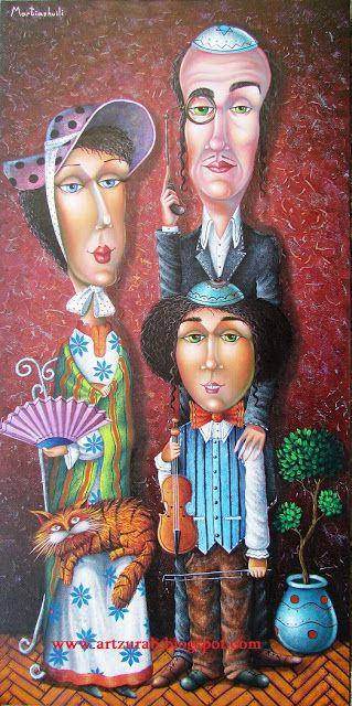 """Artist Zurab Martiashvili, """"Family Portrait"""""""