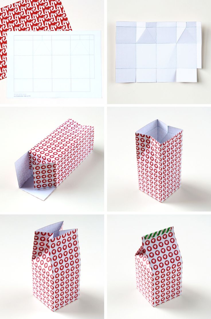 How to make your own Diy Printable Milk Carton Gift Boxes // With free template