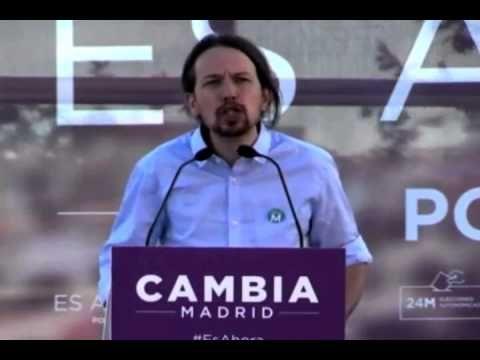 Cierre de campaña Podemos. Discurso Pablo Iglesias - YouTube