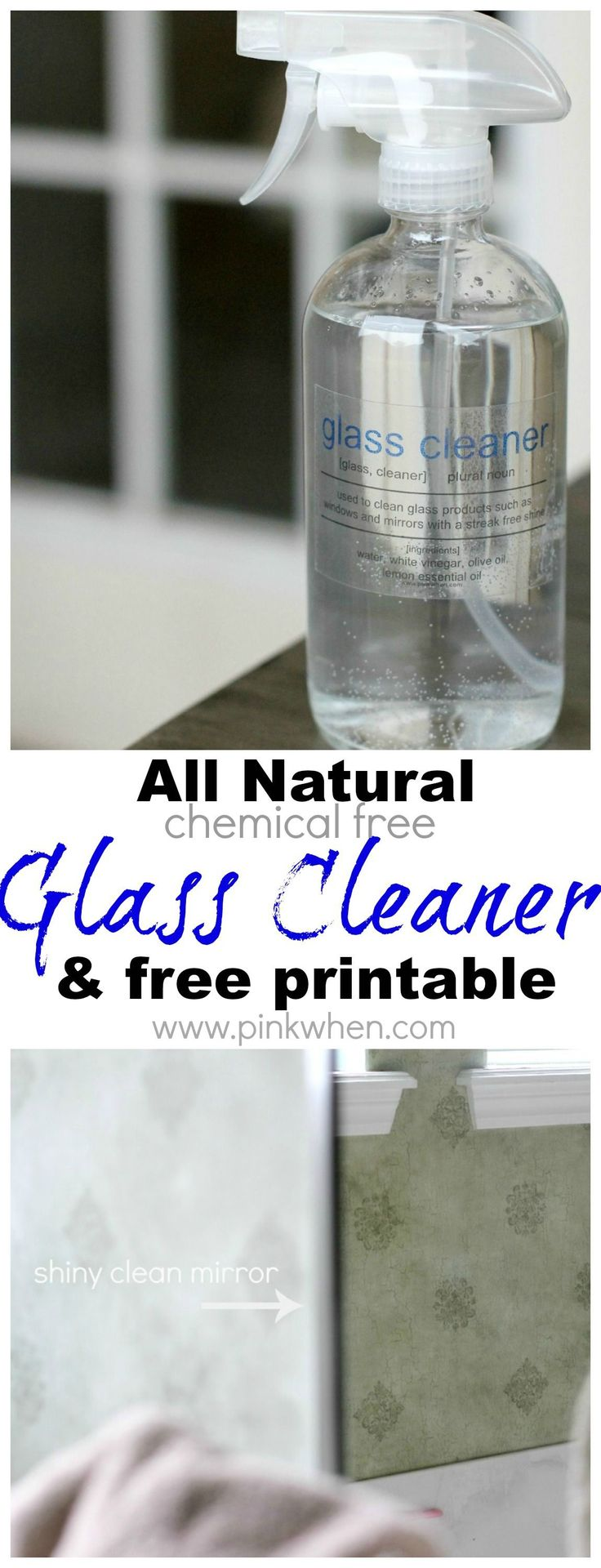 This is one of my favorite cleaners to date! All natural chemical free glass cleaner. #glasscleaner