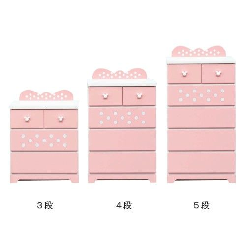 Minnie Mouse Chest Of Drawers Japan