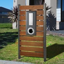Milkcan Letterbox Timber Steel Graphite Picket Fence Mailbox